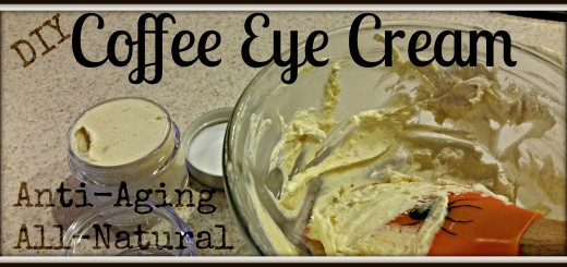DIY Coffee Eye Lotion