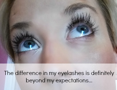 Younique 3D Fiber Lashes after application