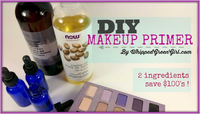 All-Natural Makeup Primer Recipe (by WhippedGreenGirl.com) #DIYSkincare #DIY #Makeup #Primer #Recipe