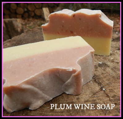 Plum Wine Soap by PureGraceSoaps