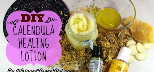 DIY Calendula Healing Lotion by WhippedGreenGirl.com