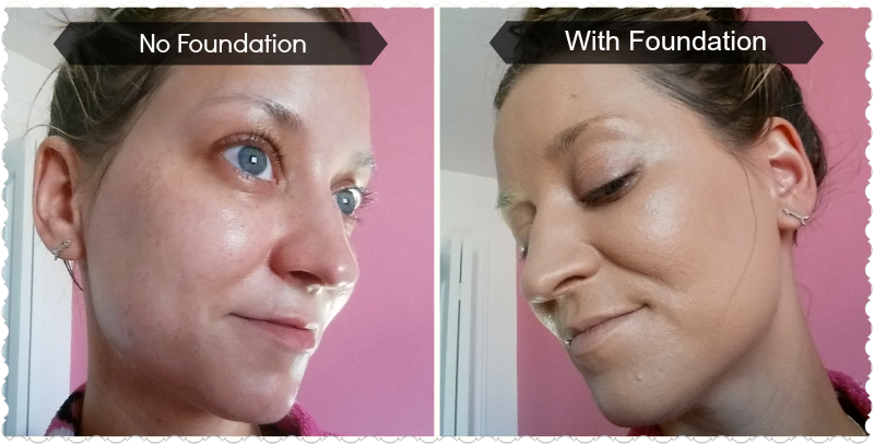 IQ Naturals Makeup (Before and after) - review by whippedgreengirl.com