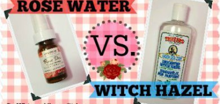 Rose Water VS Witch Hazel - what is best for your skin! By WhippedGreenGirl.com #witchhazel #rosewater #skincare