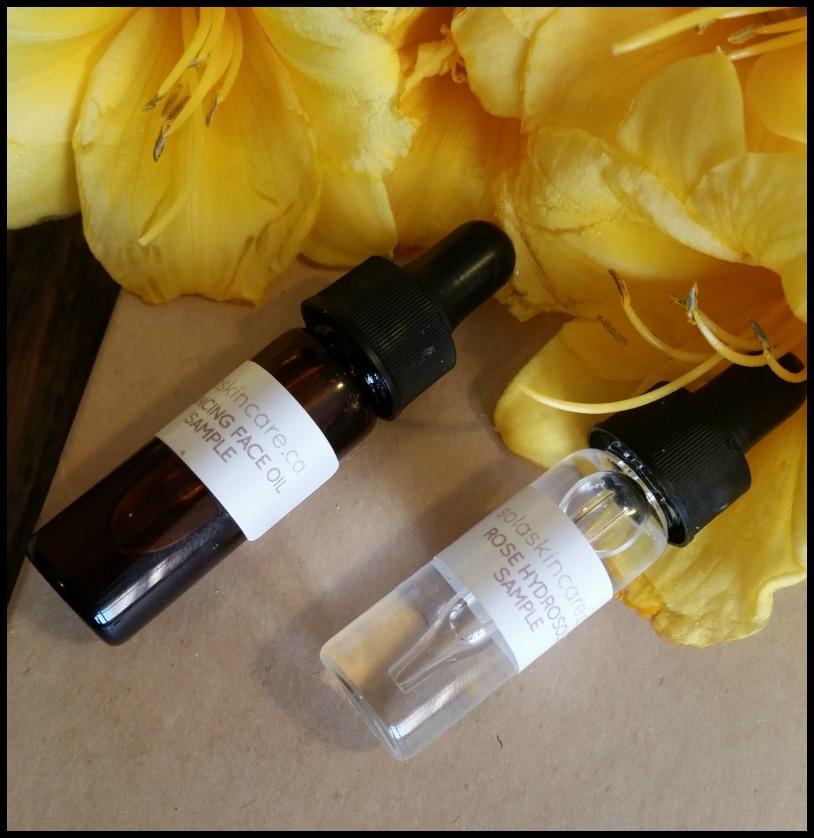 Sola Skincare Sample Set Review by WhippedGreenGirl.com (#organic, #handmade, #skincare!)