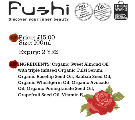 Fushi Stretch Mark Oil #REVIEW (By WhippedGreenGirl.com) From the UK this #organic stretch mark oil is loaded with only the best & purest in skincare oils
