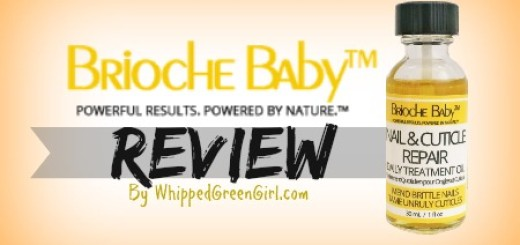 Brioche Baby #Review - By WhippedGreenGirl.com (#organic, #allnatural way to heal cracked, brittle nails)