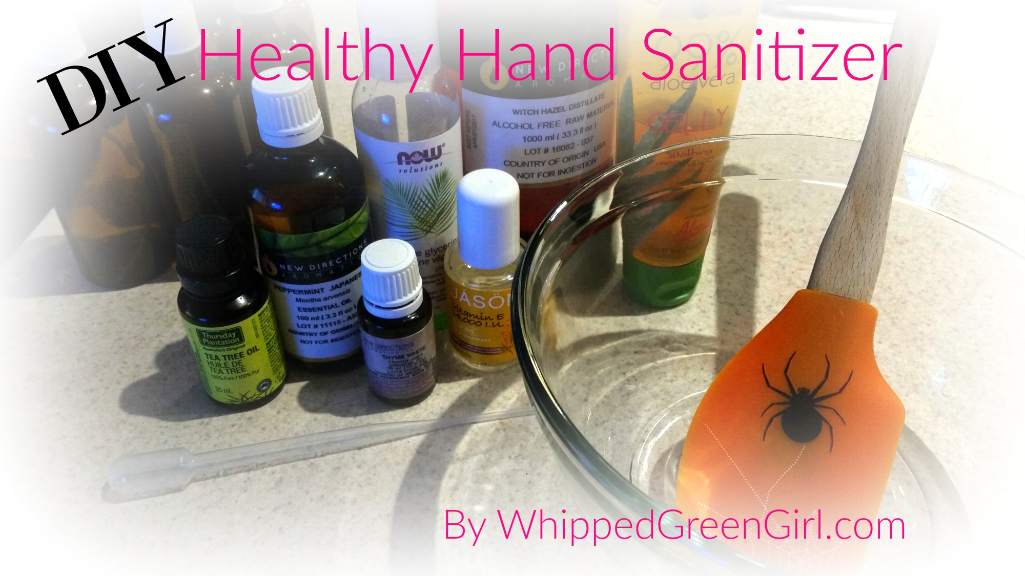 DIY Healthy Hand Sanitizer - Aloe Vera Based – Organic – Non-Toxic (By WhippedGreenGirl.com)