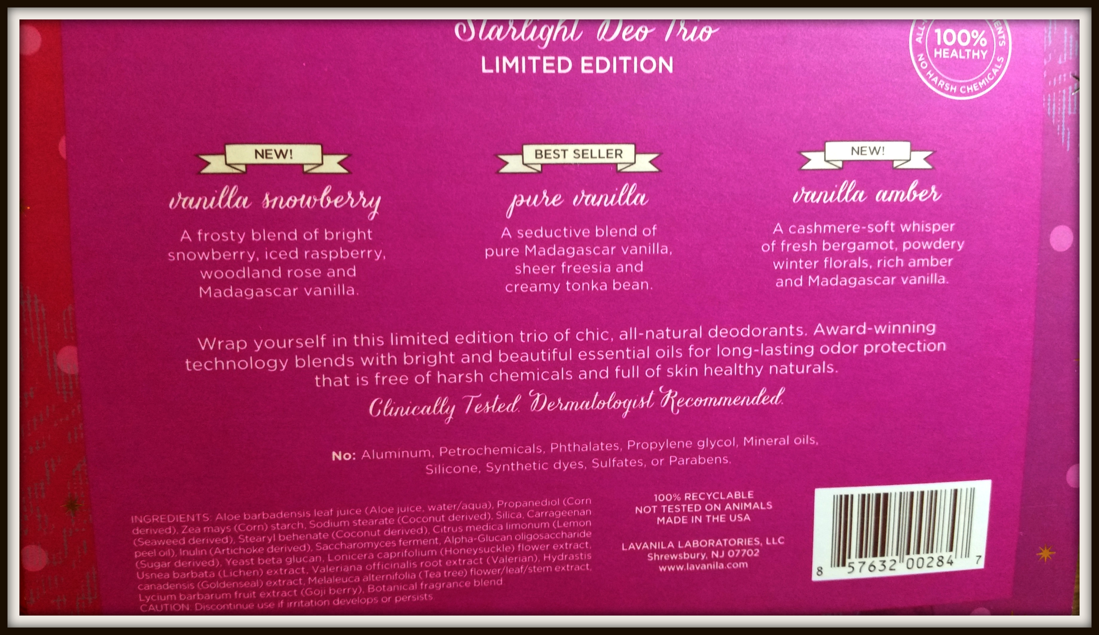 Lavanila Startlight Deo Trio Review (by WhippedGreenGirl.com)