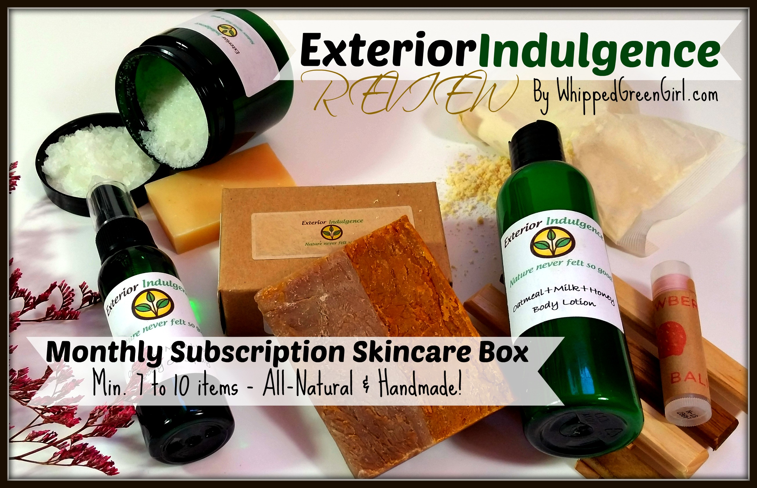 Exterior Indulgence Review - By WhippedGreenGirl.com (February Subscription Box) #Etsy - #Handmade #Skincare!
