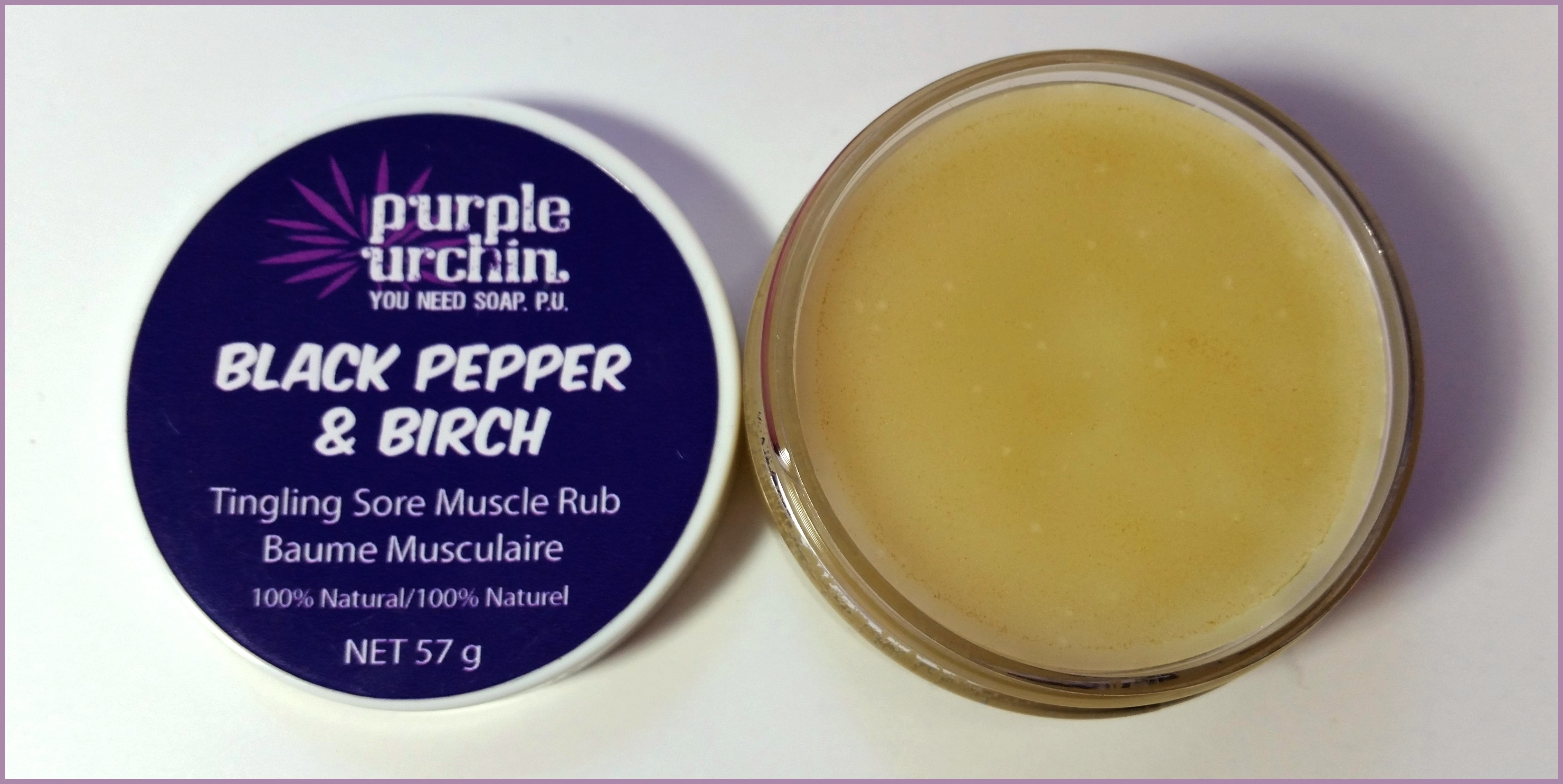 Purple Urchin Review (By WhippedGreenGirl.com) Black Pepper and Birch Salve