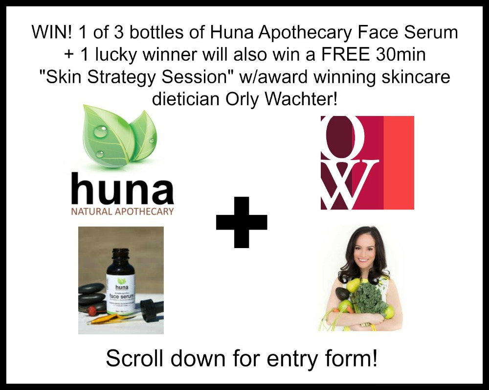 Huna Apothecary Review (by WhippedGreenGirl.com) + CONTEST - Win a bottle of serum + a Skin Strategy Session w/Orly Wachter