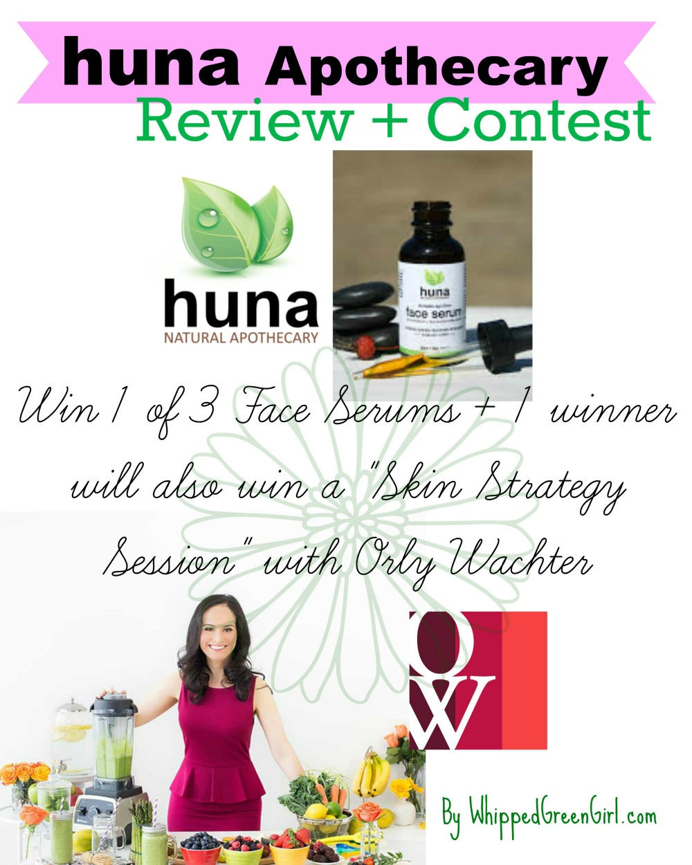 Huna Apothecary Review (By WhippedGreenGirl.com) #Contest included