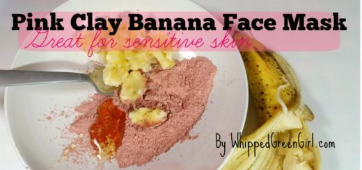 Pink Clay Banana Face Mask (by WhippedGreenGirl.com) #DIY #Organic #Skincare