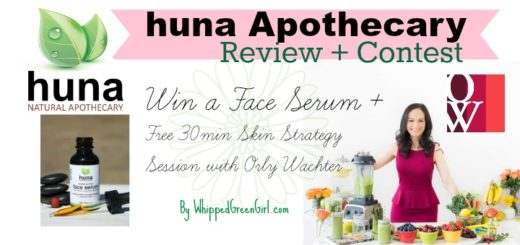 Huna Apothecary Review (by WhippedGreenGirl.com) + #CONTEST (Win a Skin Strategy Session & a Serum)