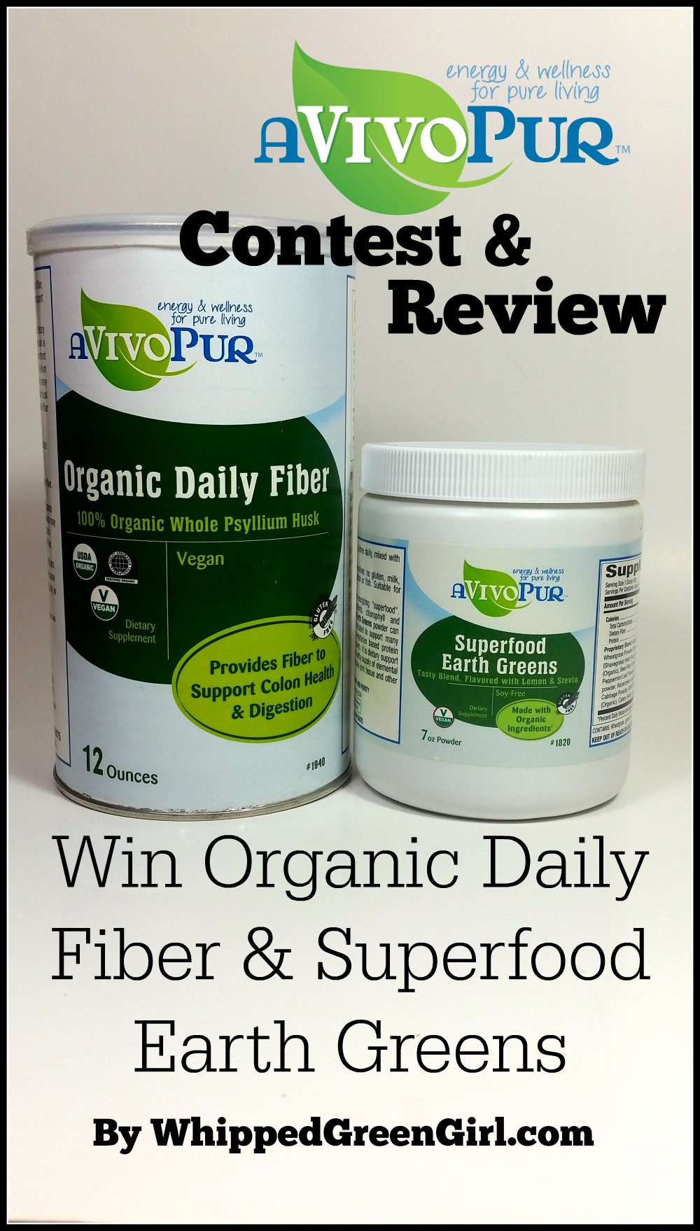 aVivoPur Review & Contest (by WhippedGreenGirl.com) #organic #superfood #supplements