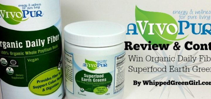 aVivoPur Review & Contest (by WhippedGreenGirl.com)#Organic #Superfood #Supplements