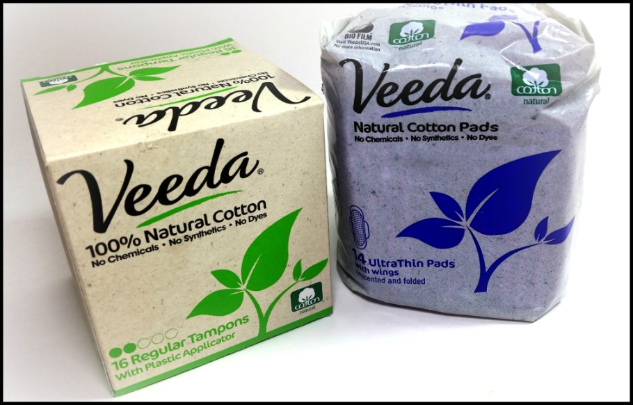 Veeda Review - Natural Cotton Pads (by WhippedGreenGirl.com) #review #chemicalfree #organic #natural