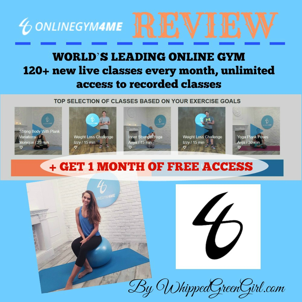 ONLINE GYM - My OnlineGym4Me Review (By WhippedGreenGirl.com) #fitness #onlinegym4me #weightloss #workoutvids