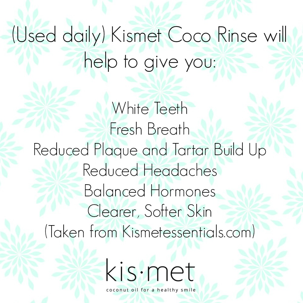 Kismet Coco Rinse Review (By WhippedGreenGirl.com) #coco #cocorinse #oilpulling #coconutoil