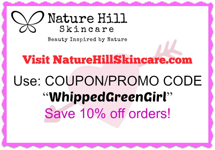 Nature Hill Skincare Review (By WhippedGreenGirl.com) 10 coupon code #organic #natural #aromatherapy #skincare