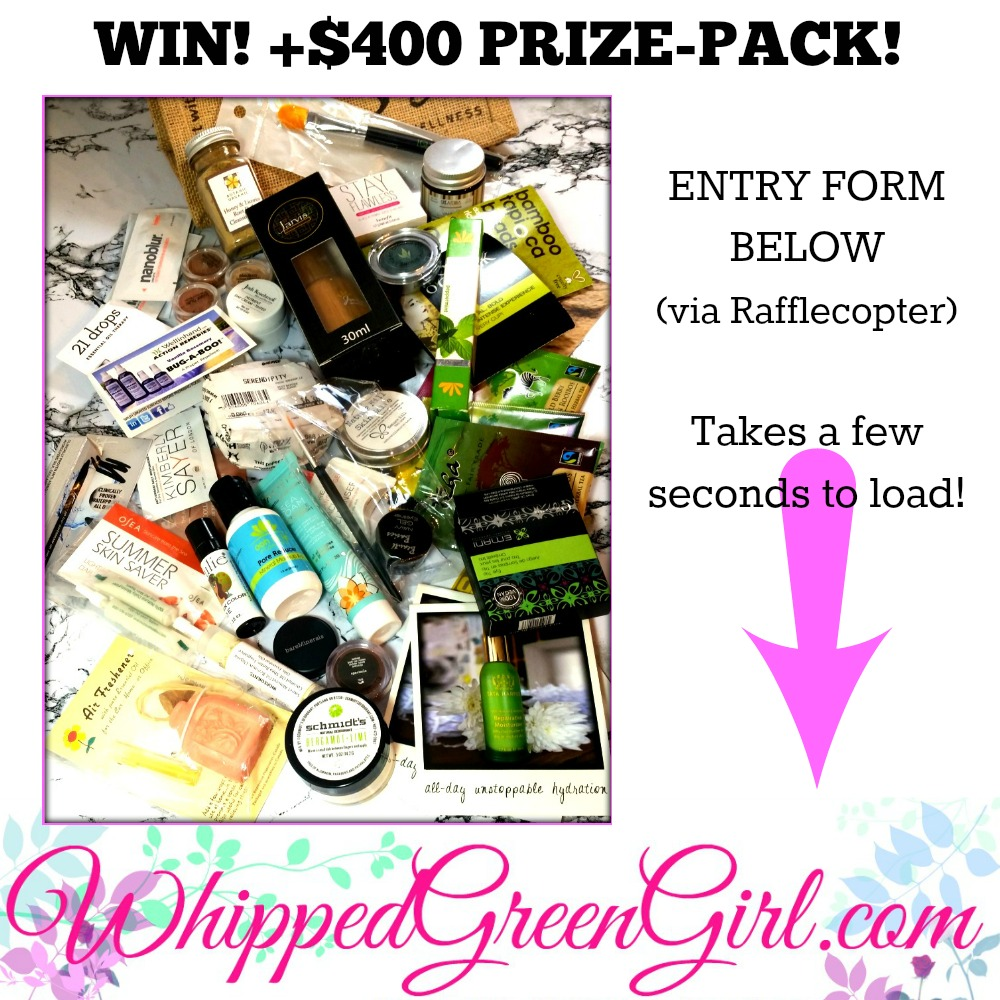 Two Year Blog Anniversary Contest - WHIPPEDGREENGIRL.com (#Win +$400 of green #skincare products!) #CrueltyFree