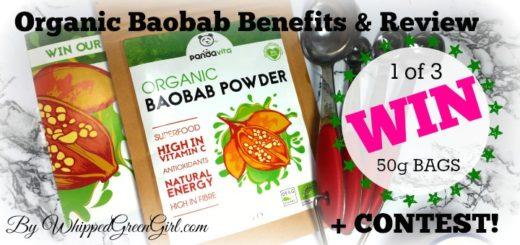 Organic Baobab Powder Review and #CONTEST (by WhippedGreenGirl.com) #VEGAN #SUPERFOOD #100Natural #baobab