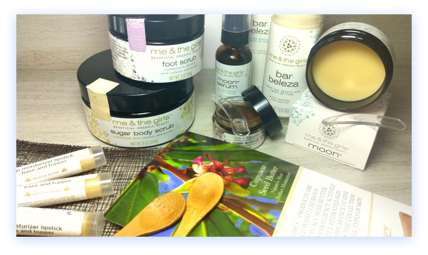 Me and The Girls Review (by WhippedGreenGirl.com) #organic skincare that uses benefits of #cupuacu seed butter (#aromatherapy #allnatural #skincare)