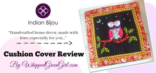 Indian Bijou Cushion Cover Review - Fairtrade, handmade, home decor - By WhippedGreenGirl.com