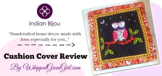 Indian Bijou Cushion Cover Review - Fairtrade, handmade, home decor - By WhippedGreenGirl.com