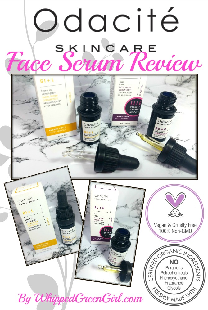 Odacite Facial Serum Review (by WhippedGreenGirl.com) #organic #fairtrade #luxury #aromatherapy #skincare