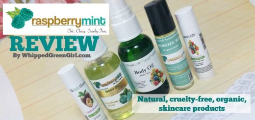 Raspberry Mint Skincare Review (By WhippedGreenGirl.com) #organic #crueltyfree #skincare products