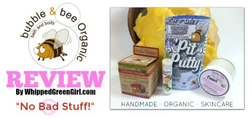 Bubble and Bee Organic Review (By WhippedGreenGirl.com) #organic #toxicfree #skincare #deodorant