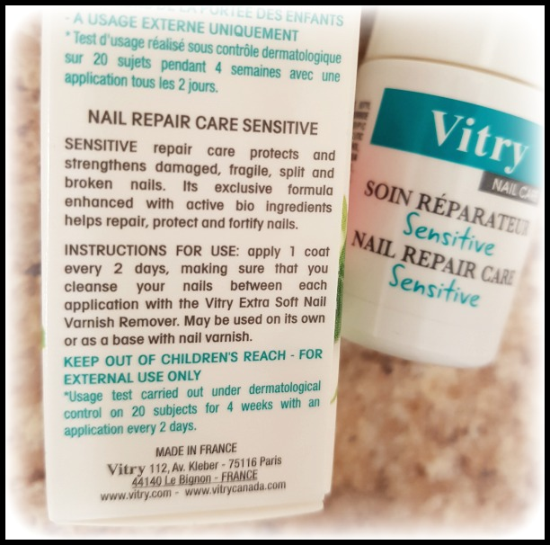 Vitry Nail Care Review (by WhippedGreenGirl.com) #nailhardener #nail #nailpolish