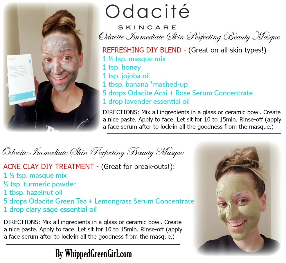 Odacite Immediate Skin Perfecting Beauty Masque Review (by WhippedGreenGirl.com) #odacite #claymasque #claymask #organic #skincare #aromatherapy