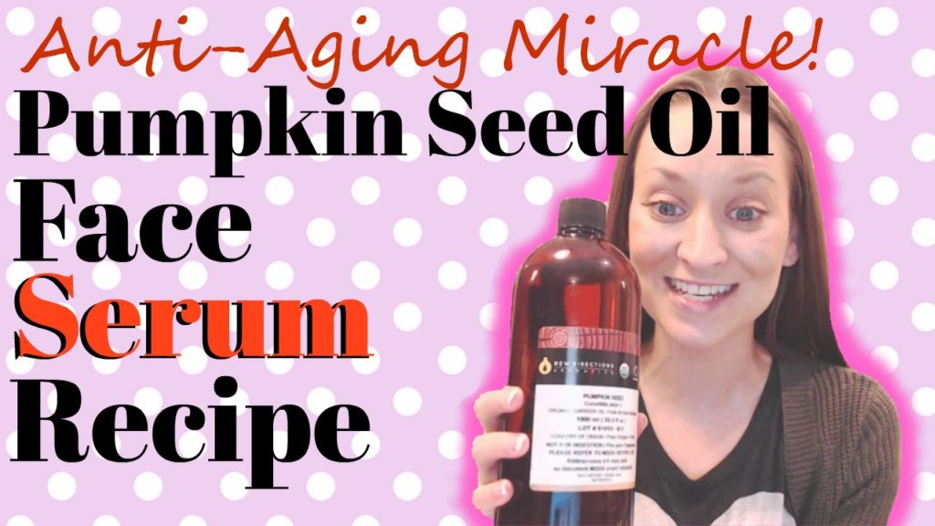 Pumpkin Seed Oil Face Serum Recipe (by WhippedGreenGirl.com) #DIYSkincare #Aromatherapy #PumpkinSeedOil #AntiAging #FaceSerum #Recipe #DIY