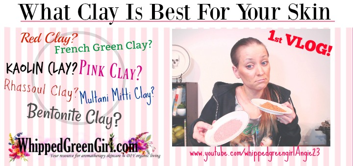 Which Clay Is Right For Your Skin (By WhippedGreenGirl.com) #greenclay #pinkclay #redclay #bentonite #facemasks #clay #claymasks #skincare #DIYskincare