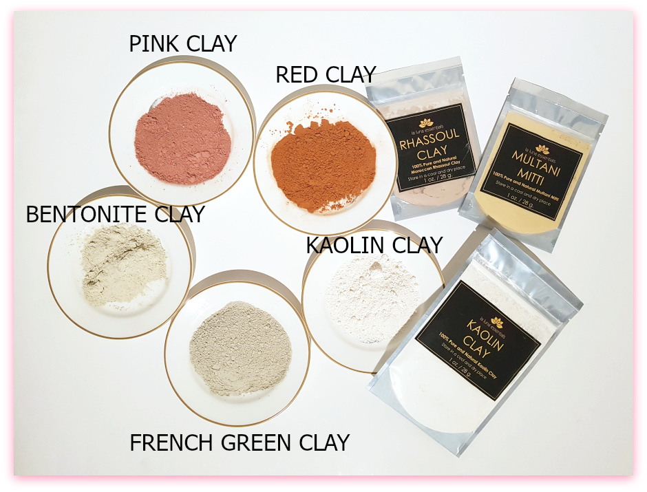 What Clay Is Right For Your Skin (By WhippedGreenGirl.com) #greenclay #pinkclay #redclay #bentonite #facemasks #clay #claymasks #skincare #DIYskincare