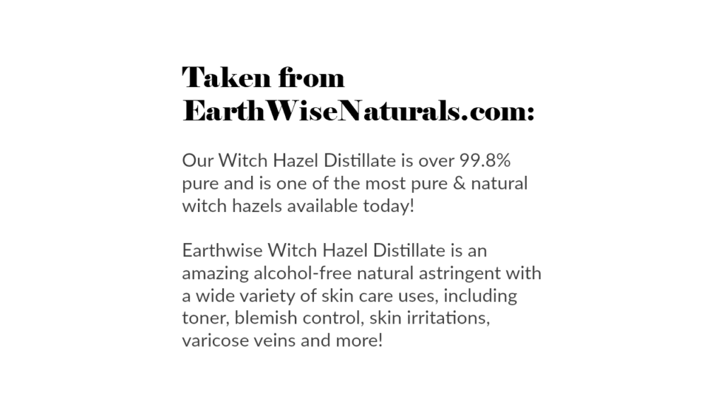 Where to Buy the Best Witch Hazel (by WhippedGreenGirl.com)