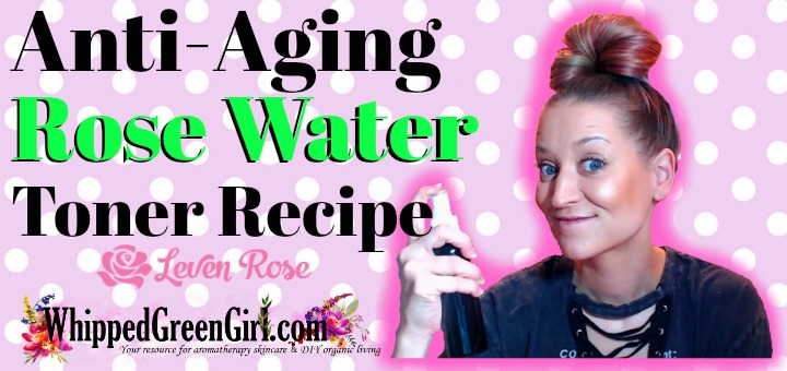 Anti-Aging Rose Water Toner Recipe (by WhippedGreenGirl.com) #toner #DIY #DIYSkincare #RoseWater #Rose