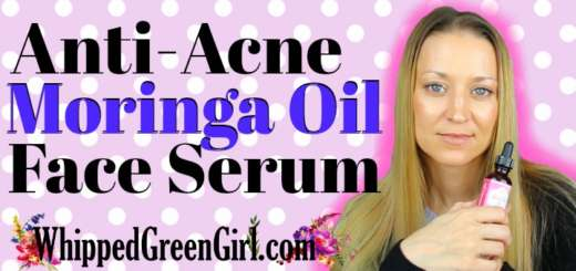DIY Anti-Acne Moringa Oil Face Serum (by WhippedGreenGirl.com) #GreenBeauty #DIY #DIYSkincare #MoringaOil #FaceSerum