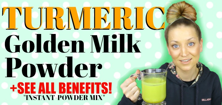 Turmeric Golden Milk Powder SEE BENEFITS + DIRECTIONS (via VIDEO as well!) By WhippedGreenGirl.com #turmeric #goldenmilk #antiinflammatory #healthyliving