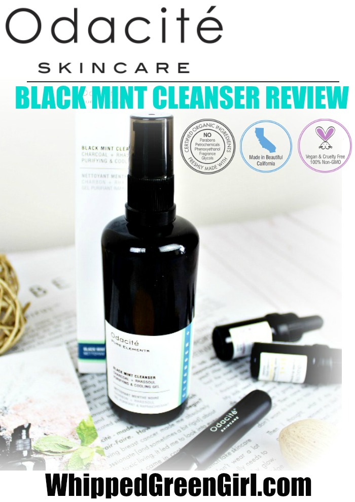 Odacite Black Mint Cleanser Review (by WhippedGreenGirl.com) #odacite #greenbeauty #organic #skincare