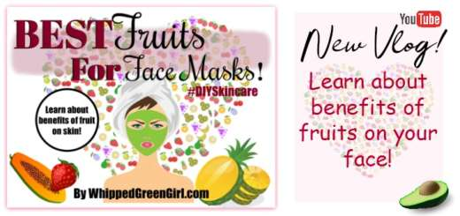 Best Fruits For Face Masks (by WhippedGreenGirl.com) #DIYSkincare #DIY #SkincareRecipes #AllNatural #GreenBeauty #FaceMasks #Fruits