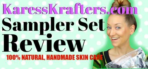 Karess Krafters Apothecary Review (by WhippedGreenGirl.com) #Handmade #Organic #CrueltyFree #Skincare #GreenBeauty #Aromatherapy #SamplerSet