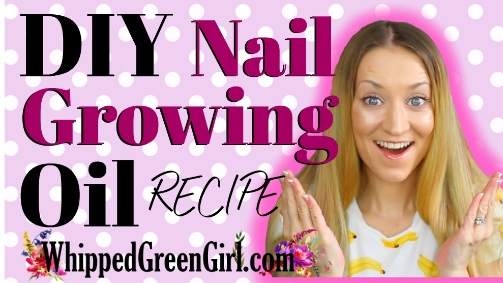DIY Nail Growing Oil Recipe (by WhippedGreenGirl.com) #DIY #DIYSkincare #NailSerum #Nails #NailRecipe #NailGrowingSerum #GreenBeauty