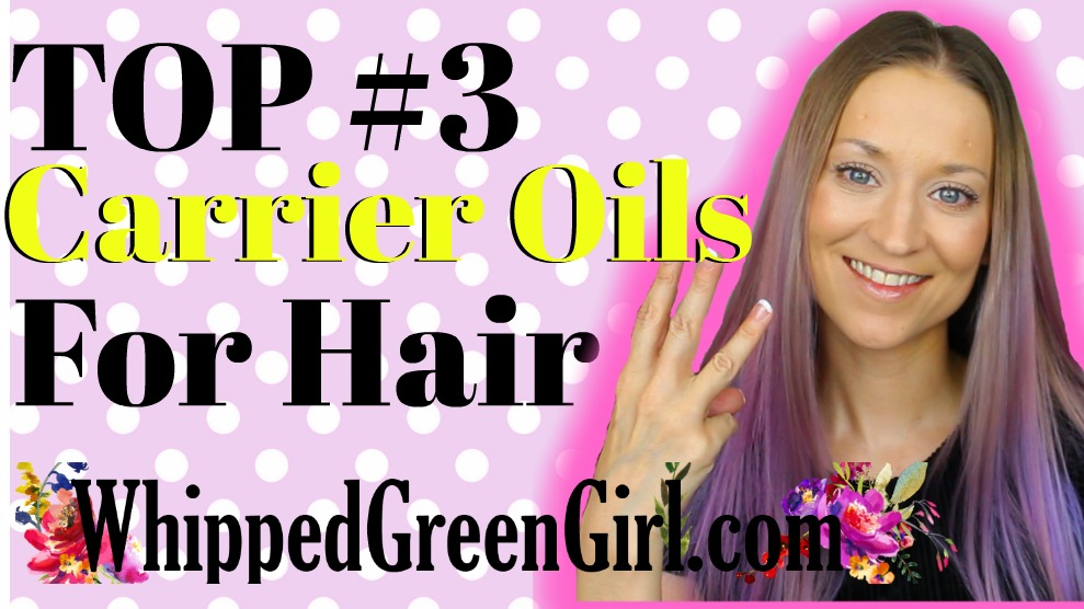 Top 3 Carrier Oils For Hair (by WhippedGreenGirl.com) #MoringaOil #CastorOil #PumpkinSeedOil #HairSerum #HairOils